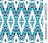geometric watercolor african... | Shutterstock . vector #1673903779