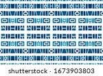 watercolor tribal geometric... | Shutterstock . vector #1673903803