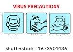 coronovirus protection... | Shutterstock .eps vector #1673904436