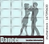 dance studio  vector couple... | Shutterstock .eps vector #167390630