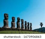 Moai Stone Statue In Miyazaki...