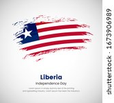 brush painted grunge flag of... | Shutterstock .eps vector #1673906989