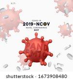 novel coronavirus  2019 ncov .... | Shutterstock .eps vector #1673908480