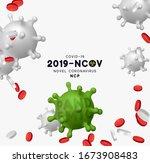 novel coronavirus  2019 ncov .... | Shutterstock .eps vector #1673908483