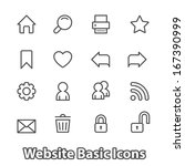 basic set of website icons for... | Shutterstock .eps vector #167390999