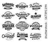twelve vintage insignias or... | Shutterstock .eps vector #167391194