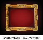 decorative vintage frame and... | Shutterstock .eps vector #1673924980