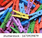 Multicoloured Painted Wooden...