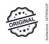 original insignia  vector label ... | Shutterstock .eps vector #1673956129