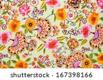 fragment of colorful retro... | Shutterstock . vector #167398166