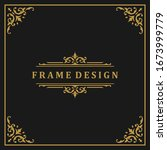 vintage frame border ornament... | Shutterstock .eps vector #1673999779