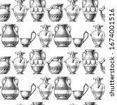 Seamless Pattern With Ancient...