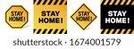 stay home on warning banner | Shutterstock .eps vector #1674001579