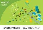 vector illustration of ecology... | Shutterstock .eps vector #1674020710