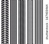 set of 5 tire treads. seamless... | Shutterstock .eps vector #167403464