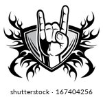 rock and roll hand sign | Shutterstock .eps vector #167404256