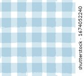 blue gingham seamless pattern.... | Shutterstock .eps vector #1674052240
