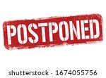 postponed sign or stamp on... | Shutterstock .eps vector #1674055756
