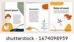 set of vector modern abstract... | Shutterstock .eps vector #1674098959