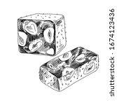 nougat  eastern delicacy  ... | Shutterstock .eps vector #1674123436