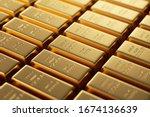 Gold Bars 1000 Grams. 3d...
