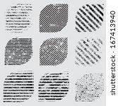 grunge shapes  | Shutterstock .eps vector #167413940