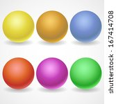 a collection of balls of... | Shutterstock . vector #167414708