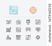 seo icons set. ppc and seo...