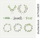 nature leafs design elements.... | Shutterstock .eps vector #167416820