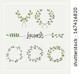 nature leafs design elements.... | Shutterstock .eps vector #167416820
