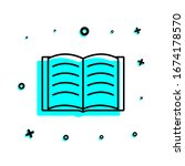 open book icon. simple thin...