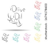 olive oil  logo multi color set ...