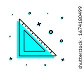 angle ruler icon. simple thin...