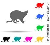 beaver silhouette multi color... | Shutterstock .eps vector #1674181840