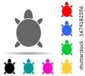 silhouette of a turtle multi...