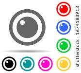 lens multi color style icon....