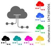 cloud hosting multi color style ...