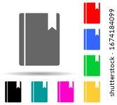 bookmark in a book multi color...