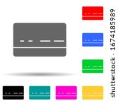 bank card multi color style...
