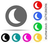half moon in round multi color...