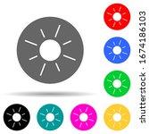 sun in round multi color style...