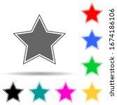 star multi color style icon....