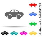a car multi color style icon....