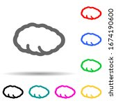 cloud multi color style icon....
