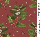 seamless pattern with colorful... | Shutterstock .eps vector #1674192310