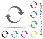 recycling symbol multi color...