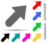 bold arrow multi color style...