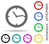 clock multi color style icon....