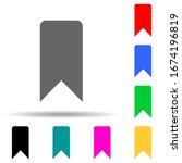 tab multi color style icon....
