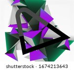 abstract background  mosaic 3d... | Shutterstock .eps vector #1674213643